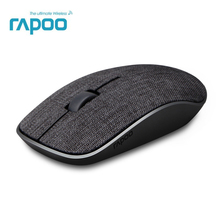 2017 New Rapoo 3500Pro Optical Wireless Mouse USB Gaming Mice with Soft Fabric Cover Super Slim Portable For Laptop Computer