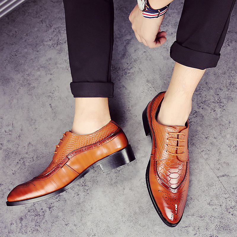 european men dress shoes 2017 brogue oxford  italian leather man shoes luxury brand formal footwear male office shoes for men (39)