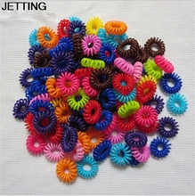 Fashion joker send candy color number in the telephone line hair bands High quality elastic solid hairpins scrunchy Gum for Hair(China)