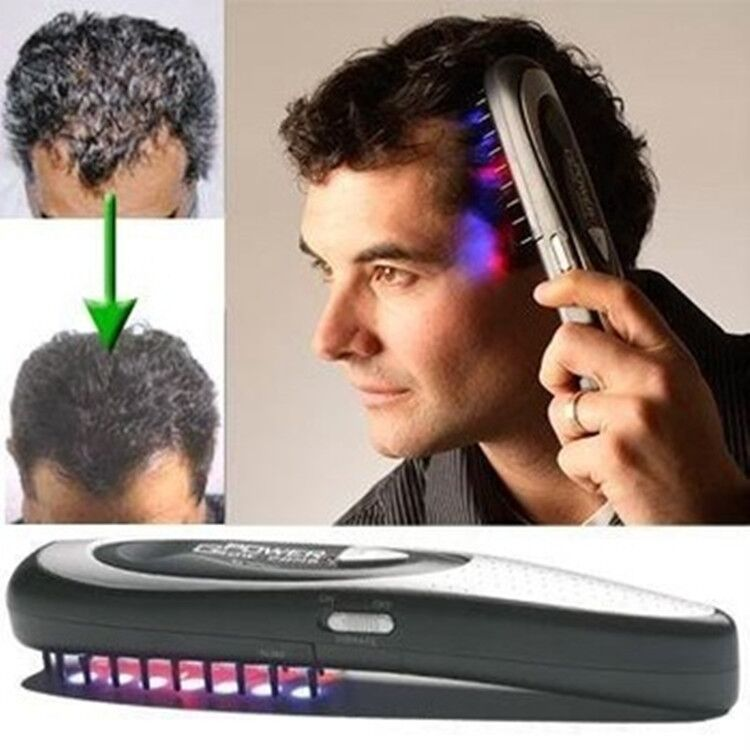Power Grow laser hair growth Comb Hair brush grow scalp massager Therapy comb regrowth device machine ozone infrared Massager(China)