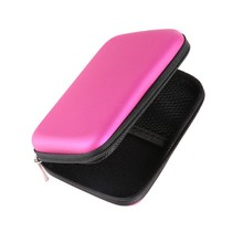 "ROSE RED Hard Drive Nylon Cover Bag Compartments Case Cover for 2.5"" HDD Hard Disk Drive Protect External"