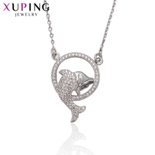 Xuping Fashion Fish Shaped Necklace Classic Long Necklace High Quality Hot Sell Chain Jewelry Halloween Gifts S70,4-41780(China)