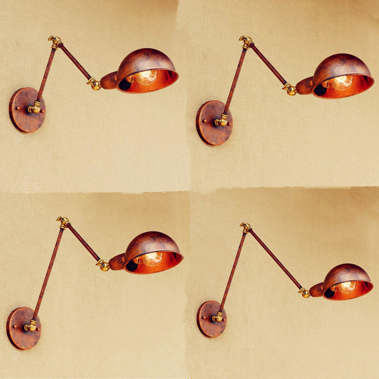 Rustic Adjsutable Swing Long Arm Wall Lamp Antique Vintage Wall Lights Loft Industrial Wall Light Applique Lamparas De Pared<br>