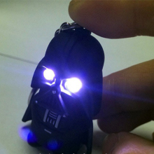 New Arrival White Light Star War LED Flashlight Black Knight Anakin Skywalker Darth Vader With Sound Toys