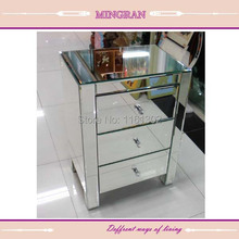 MR-401002 Beveled edged mirrored night stand/ side table/tall boy mirrored furniture for bedroom(China)
