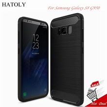 HATOLY sFor Phone Case Samsung Galaxy S8 Cover Shockproof Soft Rubber & TPU Case For Samsung Galaxy S8 Case For Samsung S8 G950>