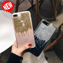 Bling Glitter Sparkle TPU Soft Case For Iphone 7 I7 6 6S Plus I6 Iphone7 Star Shiny Fashion Silicon Cell Phone Skin Cover 1pcs