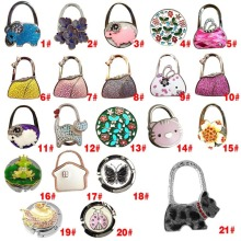 New Lovely Colorful Folding Handbag Purse Tote Bag Hanger Decor Holder Table Hook For Gift E2shopping