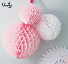 W 10cm=4 inch Tissue Paper Flowers balls Poms honeycomb lantern Party Decor Craft For Wedding Decoration  multi  Wholesale
