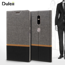 Dulcii for Lenovo Phab 2 Plus Cross Texture Leather Card Holder Stand Phone Cover for Lenovo Phab2 Plus Bag Built-in Steel Sheet(China)