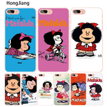 HongJiang Cartoon Mafalda Amazing cell phone Cover case for iphone 6 4 4s 5 5s SE 5c 6 6s 7 8 X plus(China)