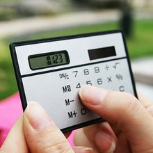 Slim Credit Card Cheap Solar Power Pocket Calculator Novelty Small Travel Compact wholesale(China)