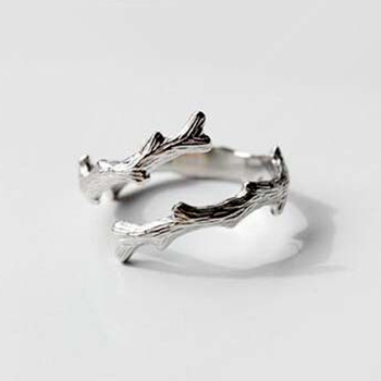 1Pcs Newest Handmade Sterling Silver 925 Jewelry Tree Shaped Ring Fashion Geometric Ring Design Women Silver Jewelry High Qualit