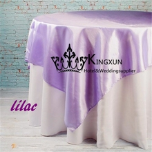 "Free Air Ship Satin Table Overy 60"" *60"" - Lilac Color(China)"