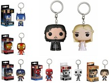 Marvel Funko Batman Pocket Pop Keychain Key Ring Hanger PVC Action Toy Figure Collection Key chain For car decor Party supply