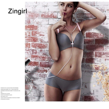 Zingirl Seamless Soft Basic Bras Bralettes Beading Casual Adjustable Strap Brassiere Women Push Up Bras Patchwork Intimates(China)