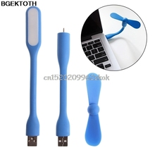 Flexible USB Fan USB LED Light Lamp For MacBook Laptop Notebook PC Power Bank #H029#