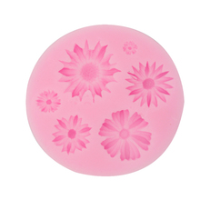 Ledifly Home Useful Flower Silicone Fondant Mold,Sugar Craft Tools,Chocolate Mould,Soap Candle Molds for Cakes Tool(China)