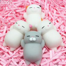 (AOSST) LOL Dumpling Seal Man Squishy Anti Stress Fidget Stick Cat Good Luck Le Vent Squeezed Prank Toys Christmas Gifts