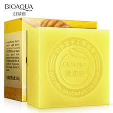 100g BIOAQUA Natural Honey Pure Essential Oil moisturizing Fragrance Handmade Soap Whitening Remove Blackhead Ageless Anti Aging(China)