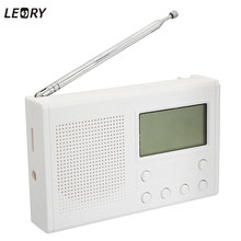 Leory High Quality FM Radio Electronic DIY Hobbies Learning Suite Kit White Frequency Range 72-108.6MHz