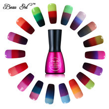 Beau Gel 7ml Gel varnish Nail Gel Polish Chameleon Temperature Color Changing Nail Polish Thermal Color Change UV Gel Lacquer(China)