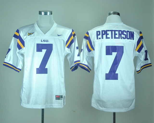 Nike New arrival Nike LSU Tigers Patrick Peterson 7 White College Jersey Ice Hockey Jerseys M,L,XL,XXL,3XL(China (Mainland))
