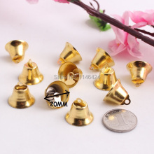 100pieces 20MM Gold Bell for Christmas Ornaments Xmas Gingle Bells DIY Handmade Material