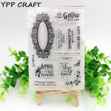 YPP CRAFT Spring Transparent Clear Silicone Stamps for DIY Scrapbooking Planner/Card Making/Kids Crafts Fun Decoration Supplies(China)