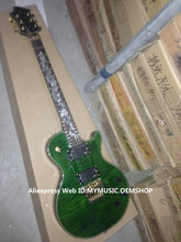 Custom Shop Green Flame top EPI Electric Guitar Snake Fingerboard High Quality Free Shipping(China)
