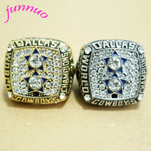 2016 New Arrival Cheap Classic Punk Replica Super Bowl Rings Dallas Cowboys Gold and silver 1977 Champion Rings for Men(China)