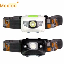 New Headlamp 4 Modes LED Head Lamp Headlight Flashlight  3 * AAA Energy Saving Light for Outdoor Lighting Hiking