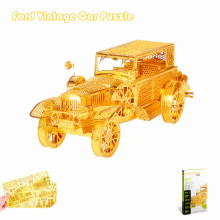Piececool 3D Metal Puzzle of Ford Tin Lizzy 3D Nano Laser Cut Vintage Car Assembled Model Kits for Big Kids DIY Gifts & Toys
