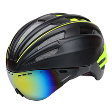 280g Goggles Cycling Helmet Insect Net Road Mountain MTB Bike Bicycle Helmet With Lens 28 Air Vent Helmet Bike Casco Ciclismo(China)