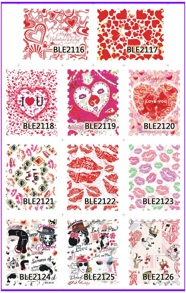 11 PACK/ LOT  WATER DECAL NAIL ART NAIL STICKER FULL PAGE STAMP KISS SWEET HEART VALENTINES BLE2116-2126<br><br>Aliexpress