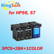3pcs for HP 56 for HP 57 ink cartridge for HP56 57 Photosmart 7200 7260 7268 7350 7350v 7400 7450 7530(China)