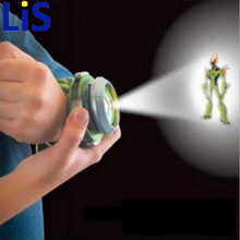 (Lis) Hot Selling Ben 10 Style Japan Projector Watch BAN DAI Genuine Toys for Kids Children Slide Show Watchband(China)