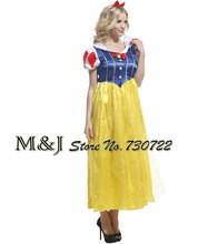Free shipping!!Snow White and the seven dwarfs Snow White Halloween dress Christmas clothing adult performance clothing