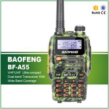 New Arrival Baofeng Dual Band Interphone VHF 136-174 UHF 400-520 Walkie Talkie BF-A55 with Free Headset