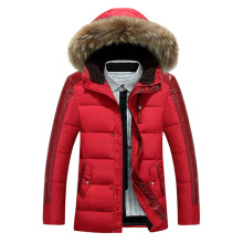 2017 Autumn and winter men's down jacket fashion Slim collar thick long white duck down jacket winter warm jacket coat 70cy