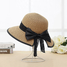 Women's Boater Sun Hats 2017 New Fashion Wheat Panama Summer Hats For Women Boater Chapeau Paille ladies Straw Hats Accessories(China)