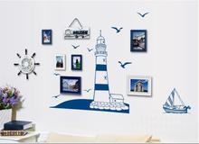 Home Decor DIY Sailing Boat Wall Sticker Tower Lovely Sea Gull Arts Decals Wallpaper Removable DIY Mural Natural Style D35M29