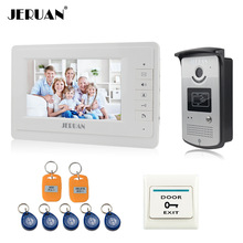 "JERUAN Home 7"" LCD monitor Speakerphone intercom Color Video Door Phone doorbell access Control System doorphone free shipping"