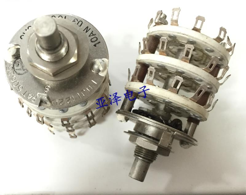 2PCS/LOT ceramic rotary band switch, 3 layers, 3 knives, 11 stall switch, shaft length 14MM<br>