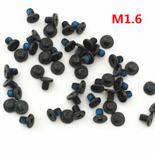 100pcs M1.6*2mm M1.6*4 Small flat head Laptop Screws Tamper-resistant Screw notebook computers Carbon black nickel plating(China)