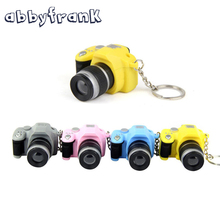 Colors Mini Toy Camera Digital Camera Keyring Toy Car Luminous Sound Hanging Bag Accessories Keychain Finger Toys For Kids Child