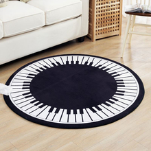 120CM Creative Piano Keys Doormat Modern Brief Bedroom Rugs And Carpets Rotating Chair Area Rug Children Play Mat Yoga Mat(China)