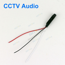 100pcs a lot DC Power Wide Range Mic Audio Microphone For CCTV Mic Audio Cameras DVR System