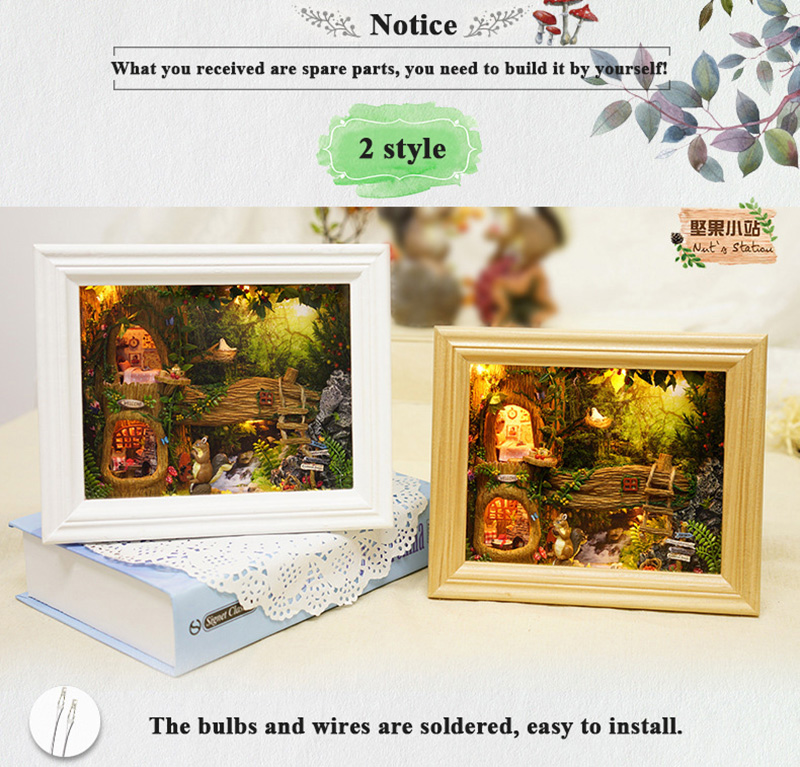 Doll House Miniature DIY Dollhouse With Furnitures Kits 3D Wooden Handmade  House Assemble Toys For Children Birthday Gift (4)