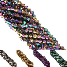 LNRRABC 110pc Glass Crystals Loose Faceted Bicone Beads for DIY Bracelet Necklace Jewelry Making Free Shipping